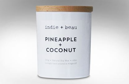 Picture of Pineapple and Coconut White Jar