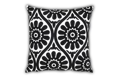 Picture of Marguerite Black Cushion 45cm