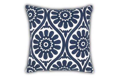 Picture of Marguerite Navy Cushion 45cm