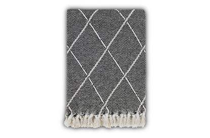 Picture of Hera Black 180cm Throw Rug