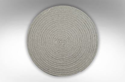Picture of Round Woven Placemat Grey
