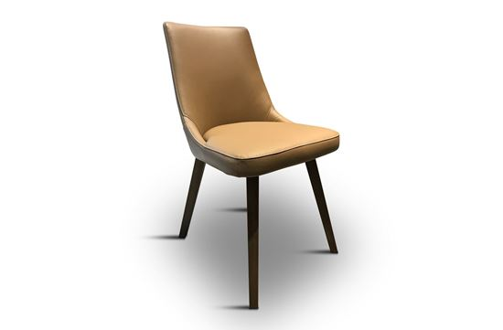 Picture of Lincoln Leather Dining Chair Caramello