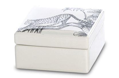 Picture of Square Leopard Box