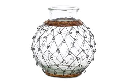 Picture of SML Folk Wicker And Wire Urn