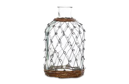 Picture of MED Folk Wicker And Wire Jar Vase