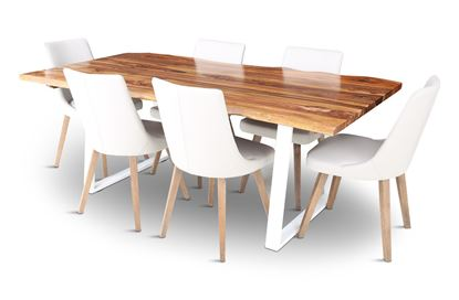 Picture of Rio 2000 Beach Dining Table with 6 Lincoln Leather Dining Chair Beach