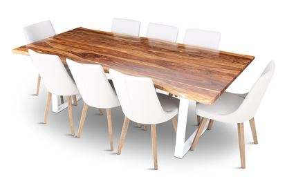 Picture of Rio 2300 Beach Dining Table with 8 Lincoln Leather Dining Chair Beach