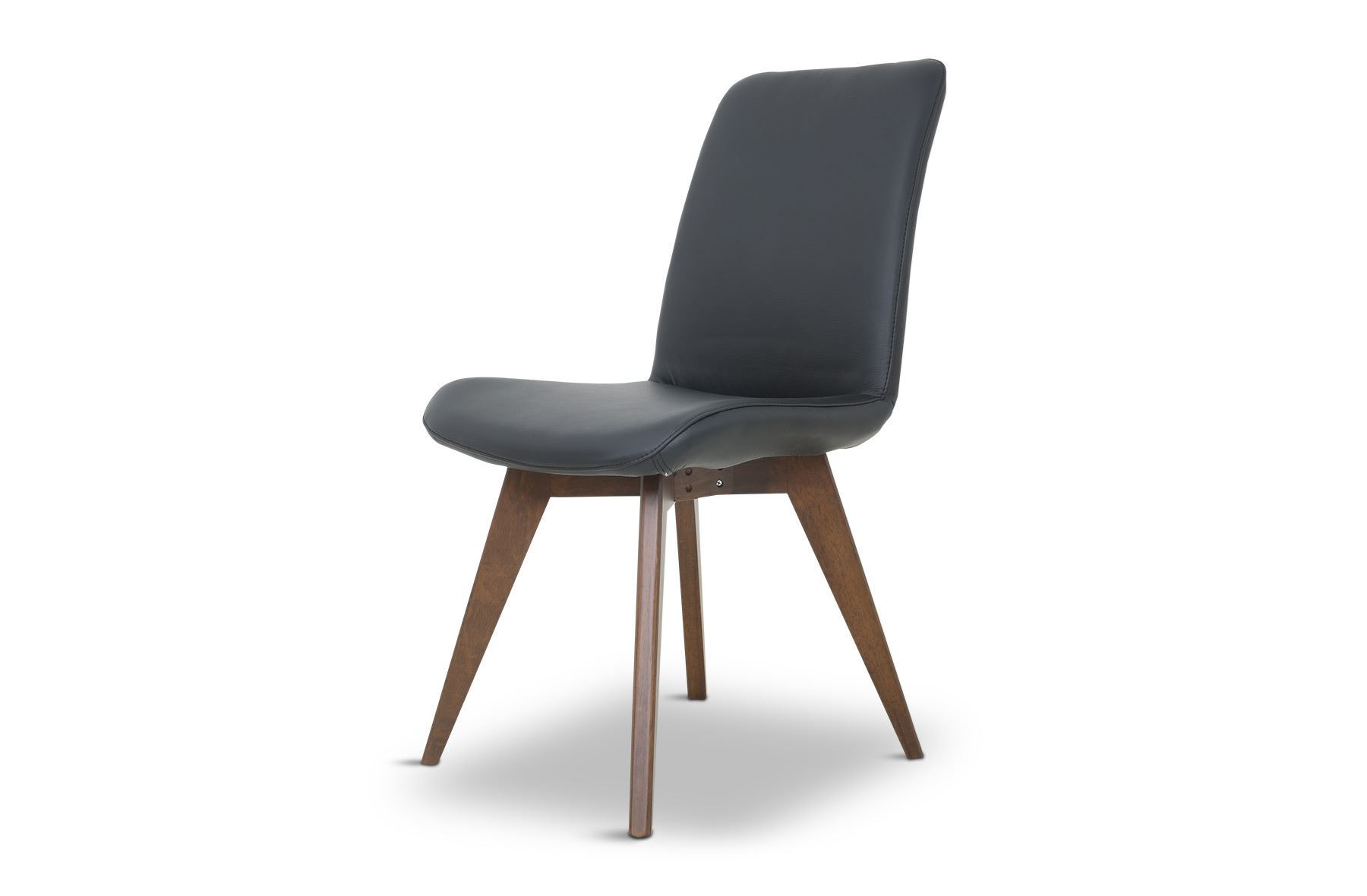 Picture of hilton leather dining chair black