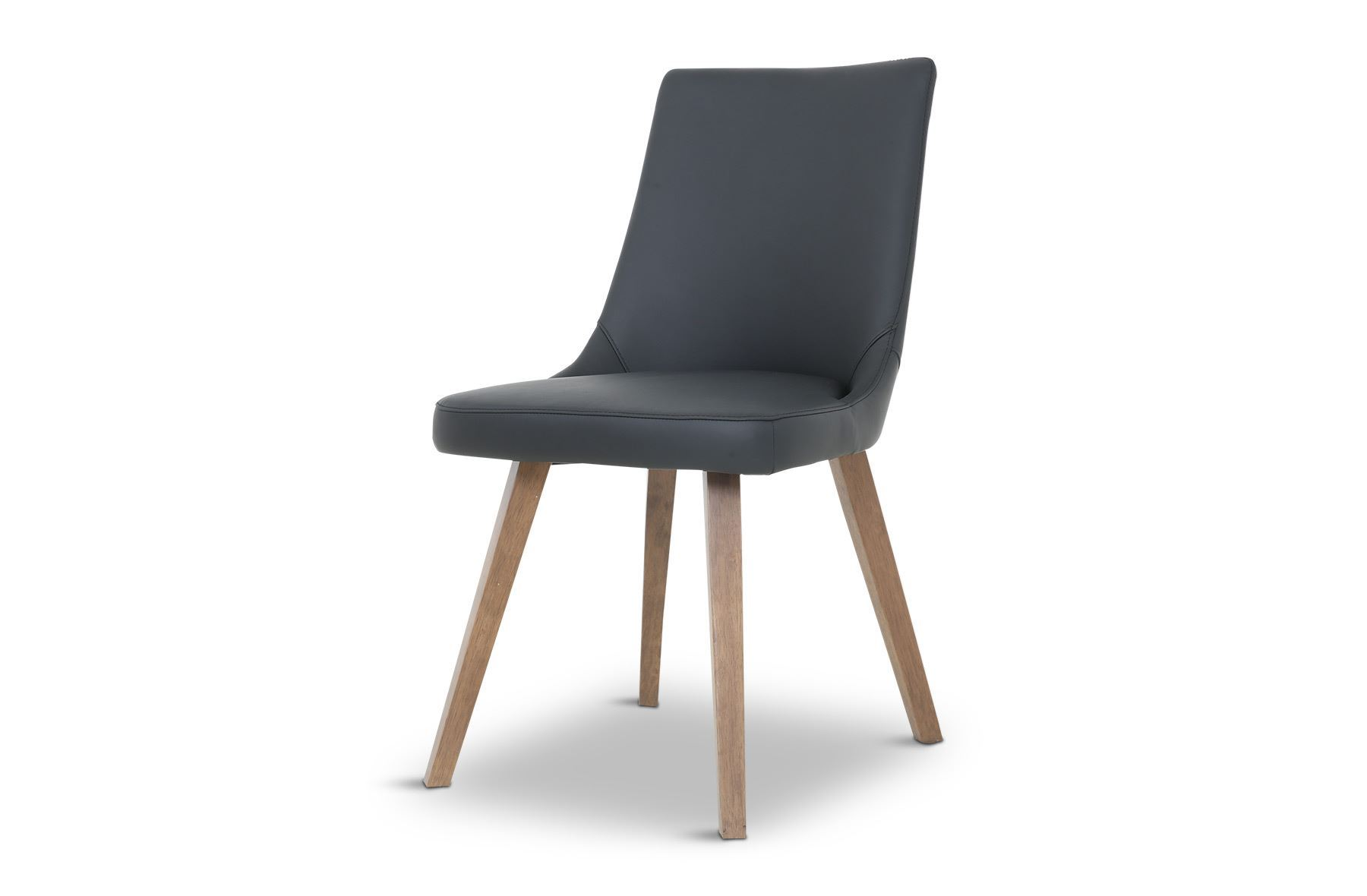 Picture of lincoln leather dining chair black