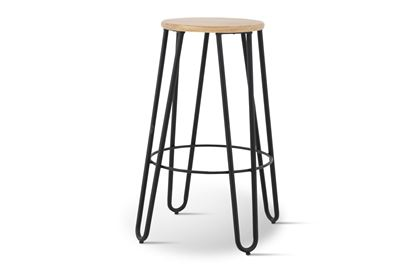 Picture of Fusion Barstool (Black Frame Natural Seat)