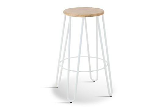Picture of Fusion Barstool (White Frame Natural Seat)