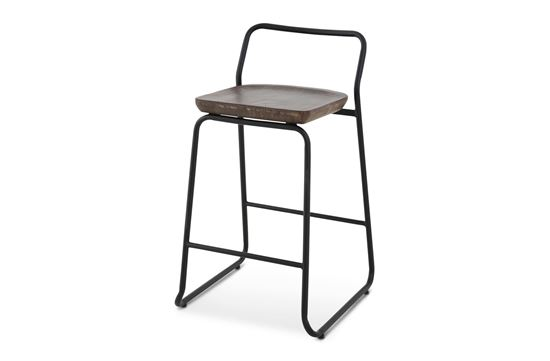 Picture of Bentley Barstool 65cm Black Frame With Mocha Seat