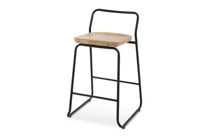 Picture of Bentley Barstool 65cm Black Frame With Natural Seat