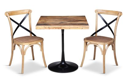 Picture of Boston Small Square Dining Table with 2 Lexi Dining Chairs