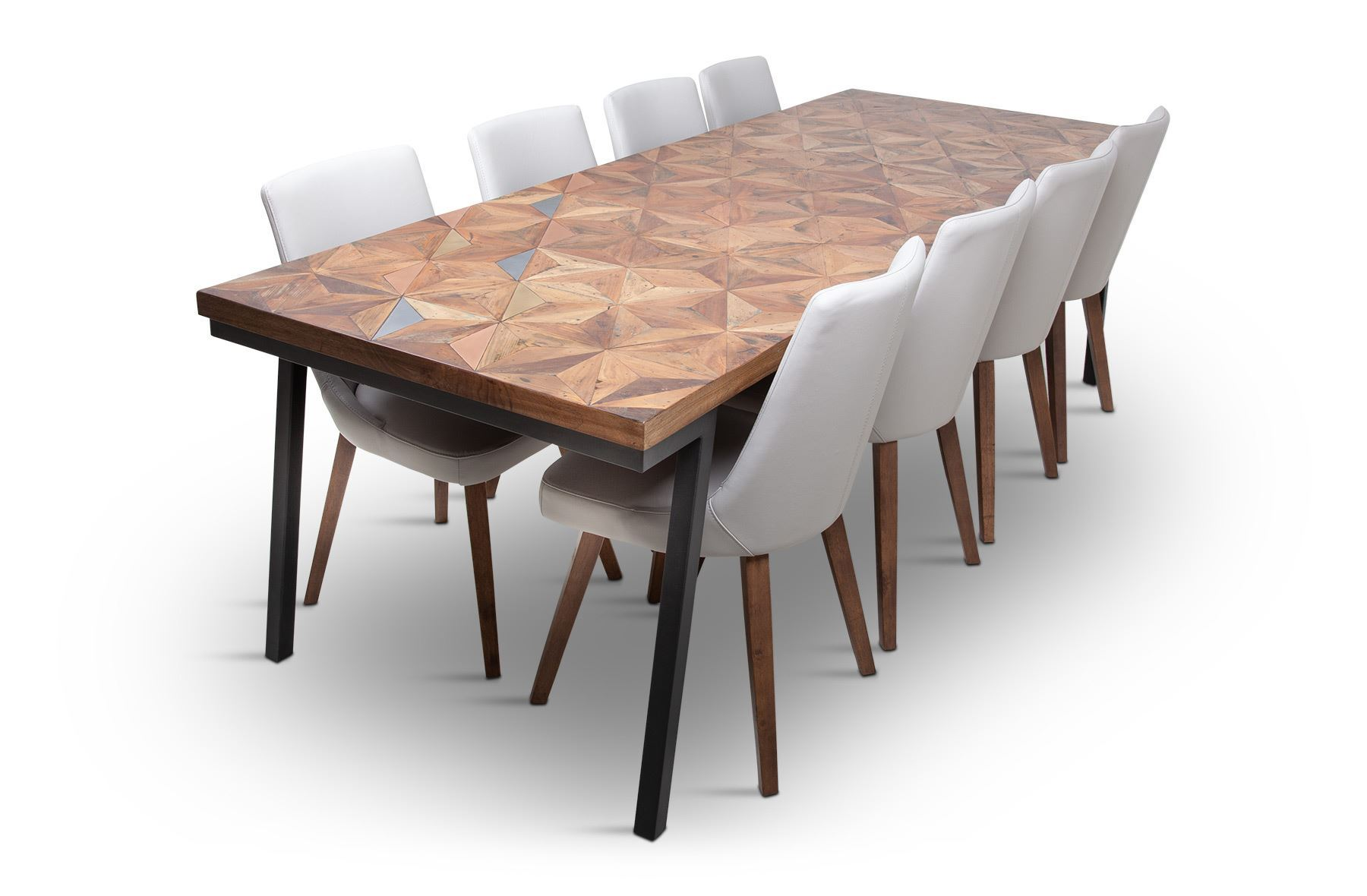 Picture Of Phoenix 2500 Dining Table With 8 Lincoln Leather Chair Beach