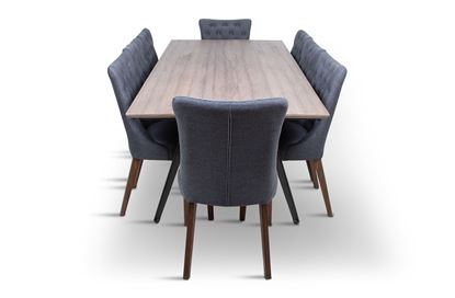 Picture of Manhattan 2300 Dining Table (Soft Sand) With 8 Paris Dining Chair