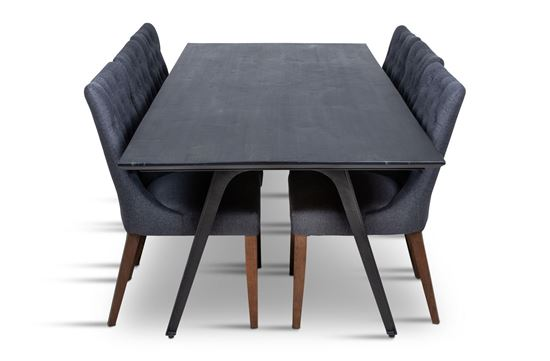 Picture of Manhattan 2300 Dining Table (Dark Ancient) With 8 Paris Dining Chair