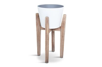 Picture of SML Lawson White Pot with Stand
