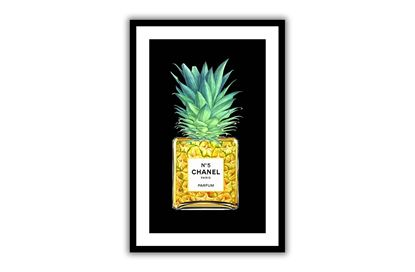 Picture of Chanel Pineapple 60 x 90 - Only hang this print from the hooks, not the string. The String is only to assist in hanging.