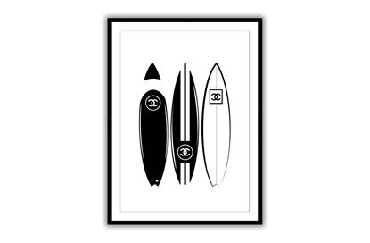 Picture of Three Chanel boards 60 x 90 - Only hang this print from the hooks, not the string. The String is only to assist in hanging.