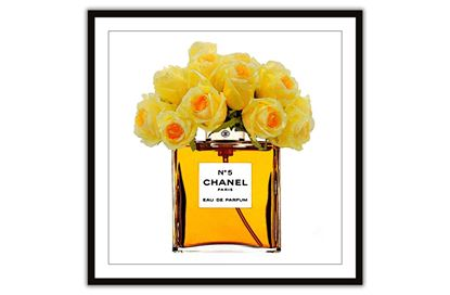 Picture of Chanel Yellow Bouquet 100 x 100