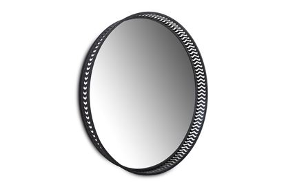 Picture of Luxor Round Mirror Black