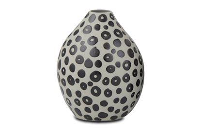 Picture of Bisque Vase Circles