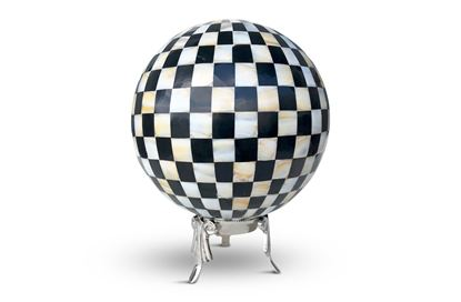 Picture of Black and White Sphere with stand