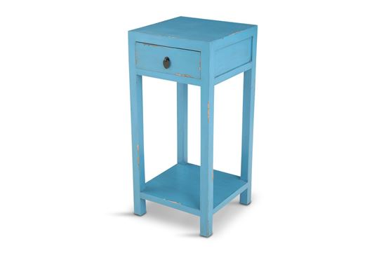 Picture of Shogun One Drawer Side Table Blue