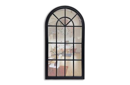 Picture of Benson Black Arched Mirror