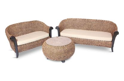 Picture of Java Package - 3 Seater + 2 Seater + C/Table without glass