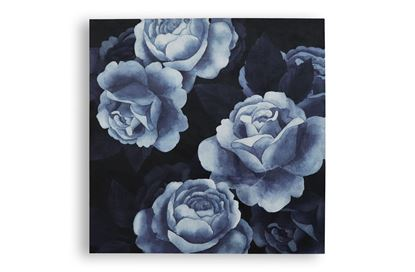 Picture of Rose Blue Velvet Wall Art