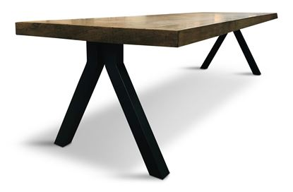 Picture of Sienna 3000 Dining Table Black Pitched Base