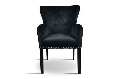 Picture of Bentley Black Carver Chair Silver