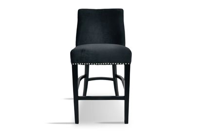 Picture of Bentley Black Barstool Silver