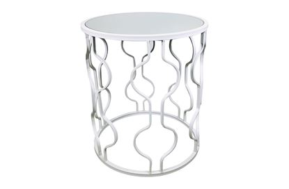 Picture of Atlantic White Side Table Small