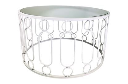 Picture of Glamour White Coffee Table Large