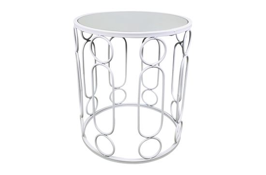 Picture of Glamour White Side Table Small