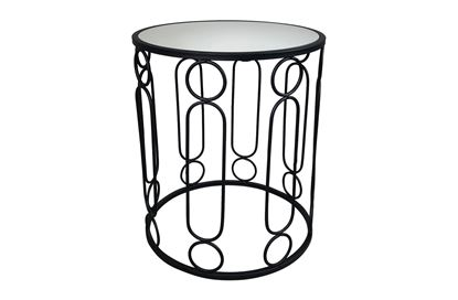 Picture of Glamour Black Side Table Large