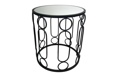 Picture of Glamour Black Side Table Small