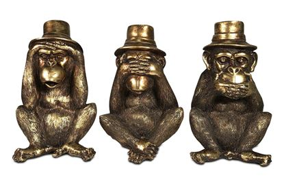 Picture of Hear, See and Speak no Evil Golden Monkeys (Set of 3)