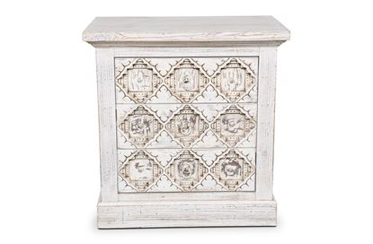Picture of Mecca Three drawer Bedside