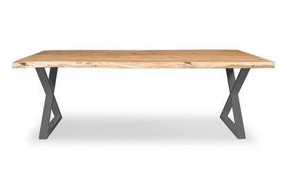 Picture of Bondi 2200 Dining Table Black X Frame