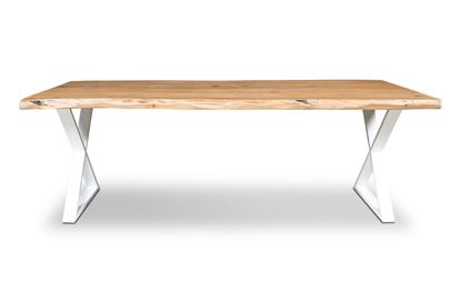 Picture of Bondi 2200 Dining Table White X Frame