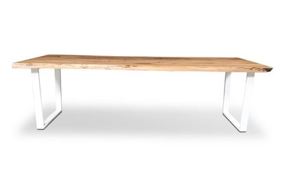Picture of Bondi 2600 Dining Table White U Frame