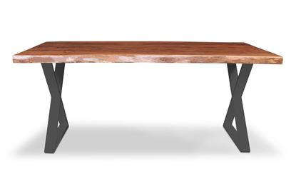 Picture of Prague 1800 Dining Table Black X Frame