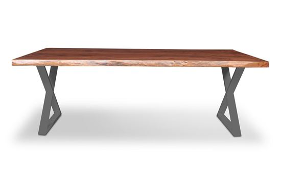 Picture of Prague 2200 Dining Table Black X Frame