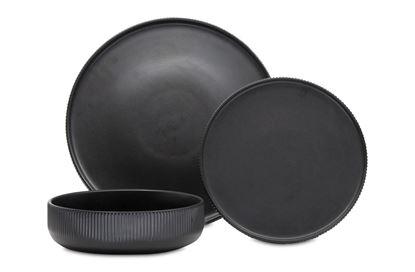 Picture of Brae Dinner Set Black 12pc