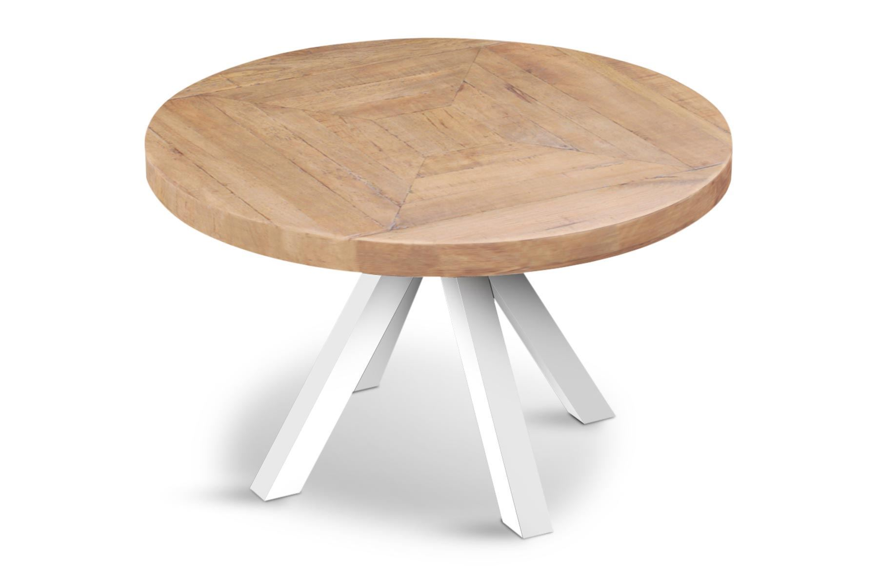 Sienna Round Dining Table Table Top & White Base