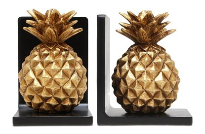 Picture of Golden Pineapple Bookends